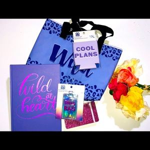 NEW PURPLE CHEETAH GIFT SET